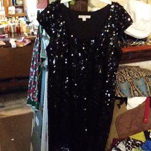 14 Madison Leigh black Sequin Dress